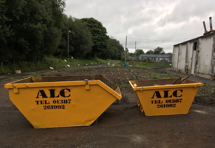 Skip hire from ALC Services (Scotland)